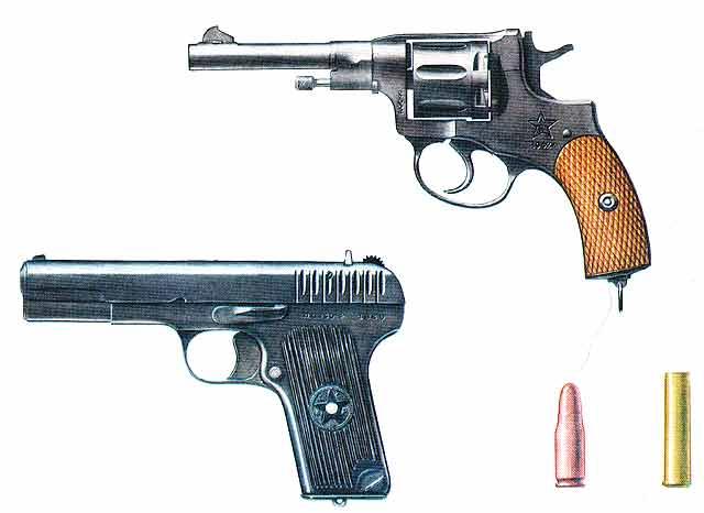 Револьвер наган (сверху)